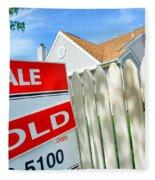Real Estate Sold Sign Fleece Blanket
