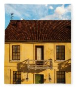 Rear View Window... Fleece Blanket
