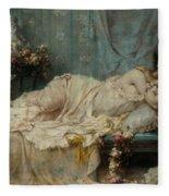 Reclining Beauty Fleece Blanket