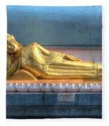reclining Buddha Fleece Blanket