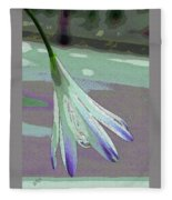 Reclining Lily Abstract Fleece Blanket