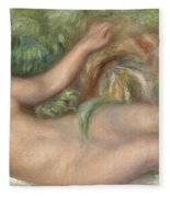 Reclining Nude La Source Fleece Blanket