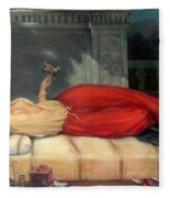 Reclining Woman Fleece Blanket