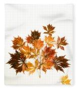 Reconstructed Full Moon Maple Fleece Blanket