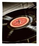 Record On Turntable Fleece Blanket