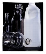 Recycling Bottles Fleece Blanket