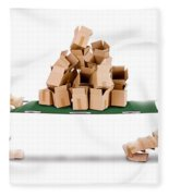Recycling Boxes By Box Characters And Stretcher Fleece Blanket