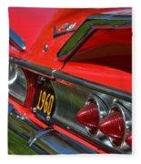 Red 1960 Chevy Fleece Blanket