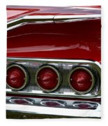 Red 1960 Chevy Tail Light Fleece Blanket
