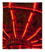 Red Abstract Carnival Lights Fleece Blanket