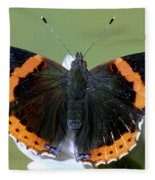 Red Admiral Butterfly Fleece Blanket