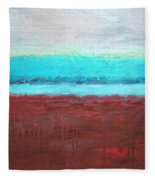 Red And Aqua Get Married Fleece Blanket