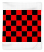 Red And Black Checkered Flag Fleece Blanket