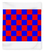 Red And Blue Checkered Flag Fleece Blanket