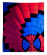 Red And Blue Pattern Fleece Blanket