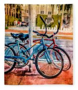 Red And Blue Rides Fleece Blanket