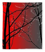 Red And Gray Fleece Blanket