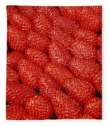 Red And Ripe Fleece Blanket