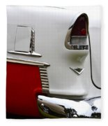 Red And White 1955 Chevy Fleece Blanket