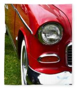 Red And White 50's Chevy Fleece Blanket
