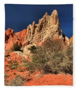 Red And White Desert Towers Fleece Blanket
