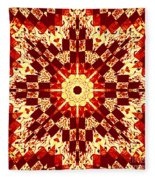 Red And White Patchwork Art Fleece Blanket