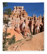 Red And White Rocks - Bryce Canyon Fleece Blanket
