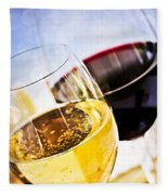 Red And White Wine Fleece Blanket
