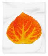 Red And Yellow Aspen Leaf 5 Fleece Blanket