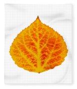Red And Yellow Aspen Leaf 6 Fleece Blanket