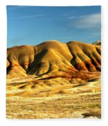 Red And Yellow Painted Hills Fleece Blanket