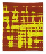 Red And Yellow Wave No 3 Fleece Blanket