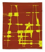 Red And Yellow Wave No 4 Fleece Blanket