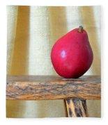 Red Anjou Pear Fleece Blanket
