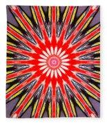 Red Arrow Abstract Fleece Blanket
