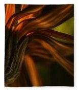 Red Autumn Blossom Detail Fleece Blanket