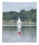 Red Ball Sailing Fleece Blanket