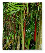 Red Bamboo Fleece Blanket