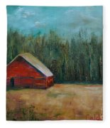 Red Barn Fleece Blanket