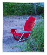 Red Beach Chair Fleece Blanket