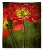 Red Beauties In The Field Fleece Blanket