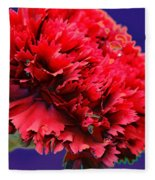 Red Beauty Carnation Fleece Blanket