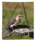 Red Bellied Woodpecker - Melanerpes Carolinus Fleece Blanket