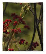 Red Berries Fleece Blanket