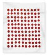 Red Berries In A Grid Fleece Blanket