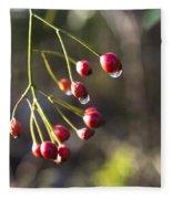 Red Berries Fleece Blanket