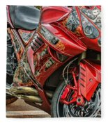 Red Bike Fleece Blanket