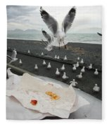 Red-billed Seagulls Fleece Blanket