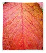 Red Blackberry Leaf Fleece Blanket