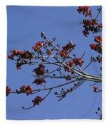 Red Blossoms Fleece Blanket